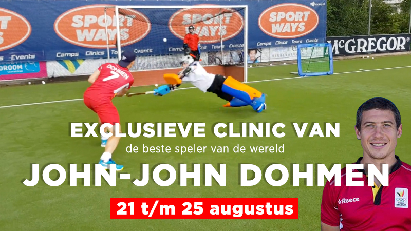 John-John Dohmen hockey clinic op prep camp Sportways 21/8