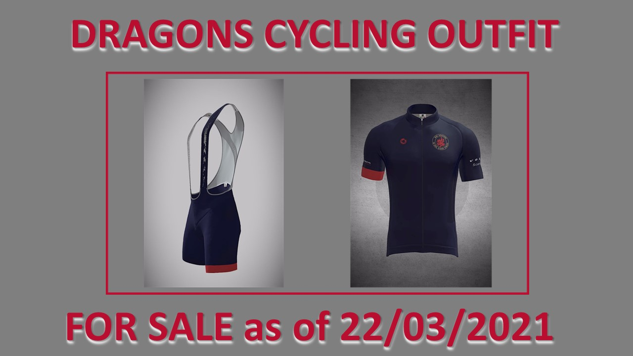 Dragons Cycling Outfits nu besteld - Levering midden-juni!!
